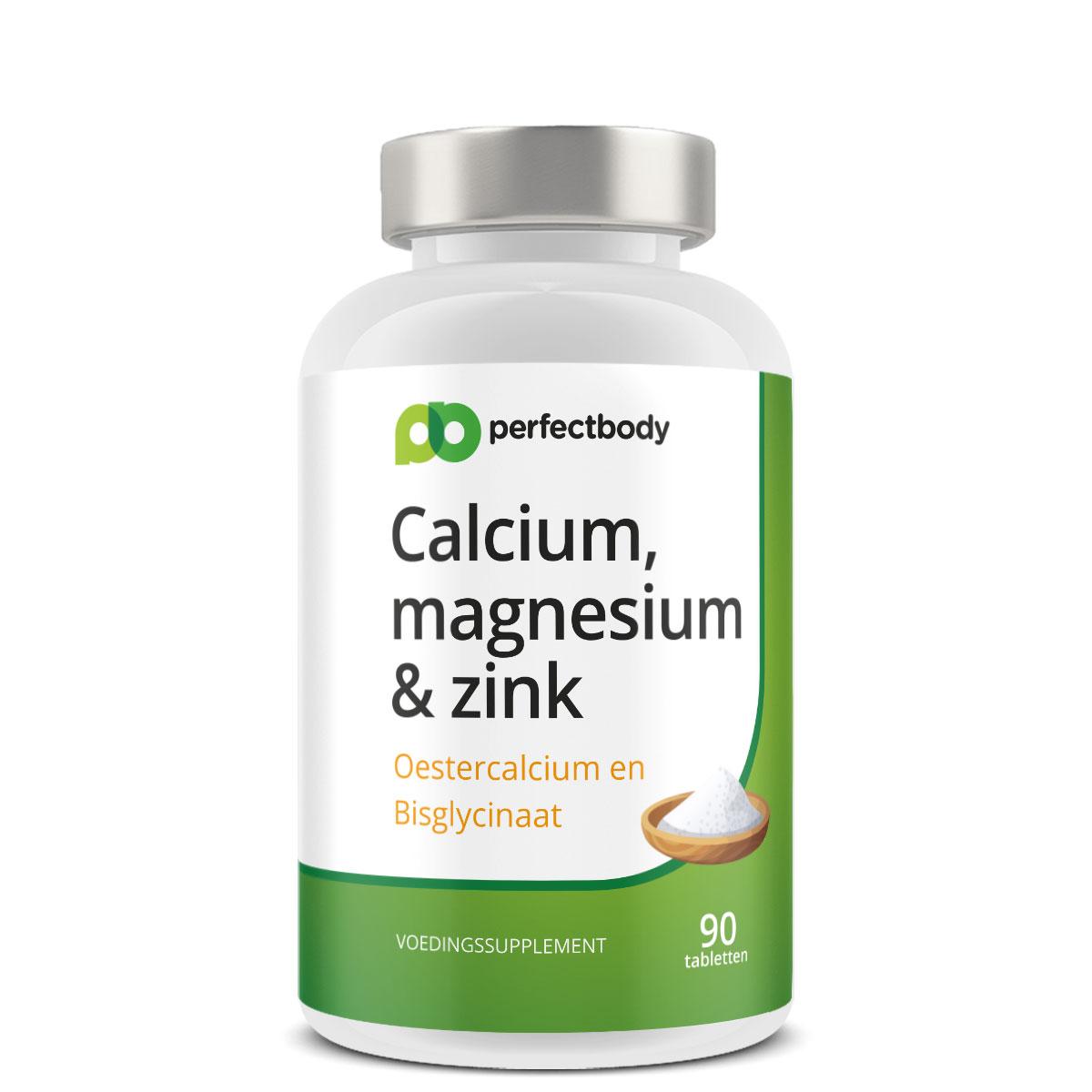 Perfectbody Calcium, Magnesium En Zink Tabletten - 90 Tabletten