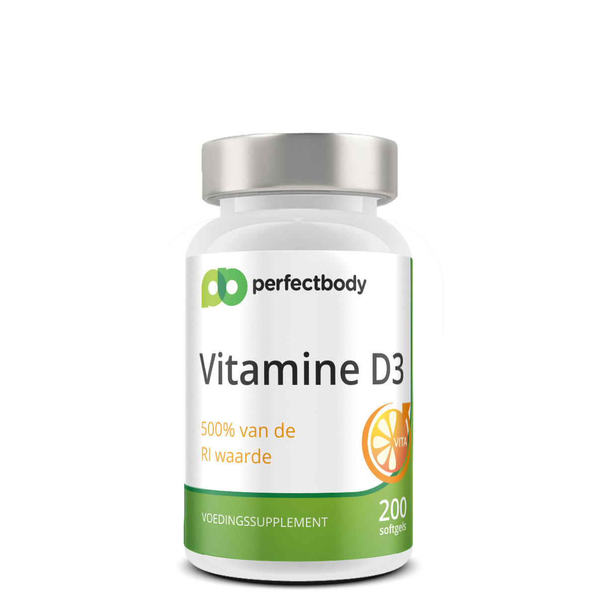 Perfectbody Vitamine D3 - 25mcg - 200 Softgels