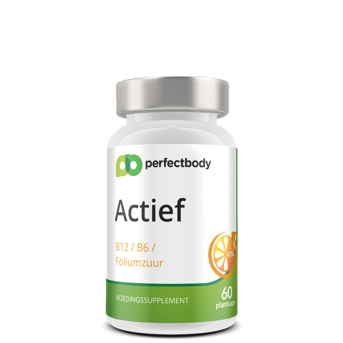 Perfectbody Vitamine B6, B12 En Foliumzuur - 60 Plantcapsules