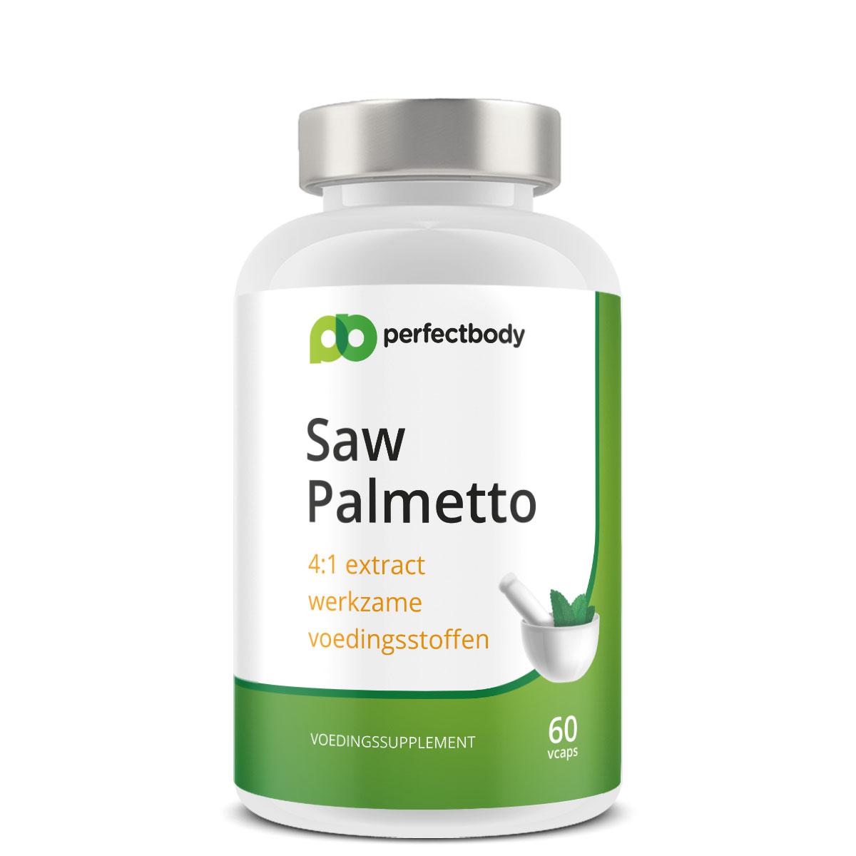 Perfectbody Saw Palmetto (zaagbladpalm) Capsules - 60 Vcaps