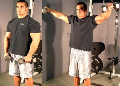 Dumbell side raise