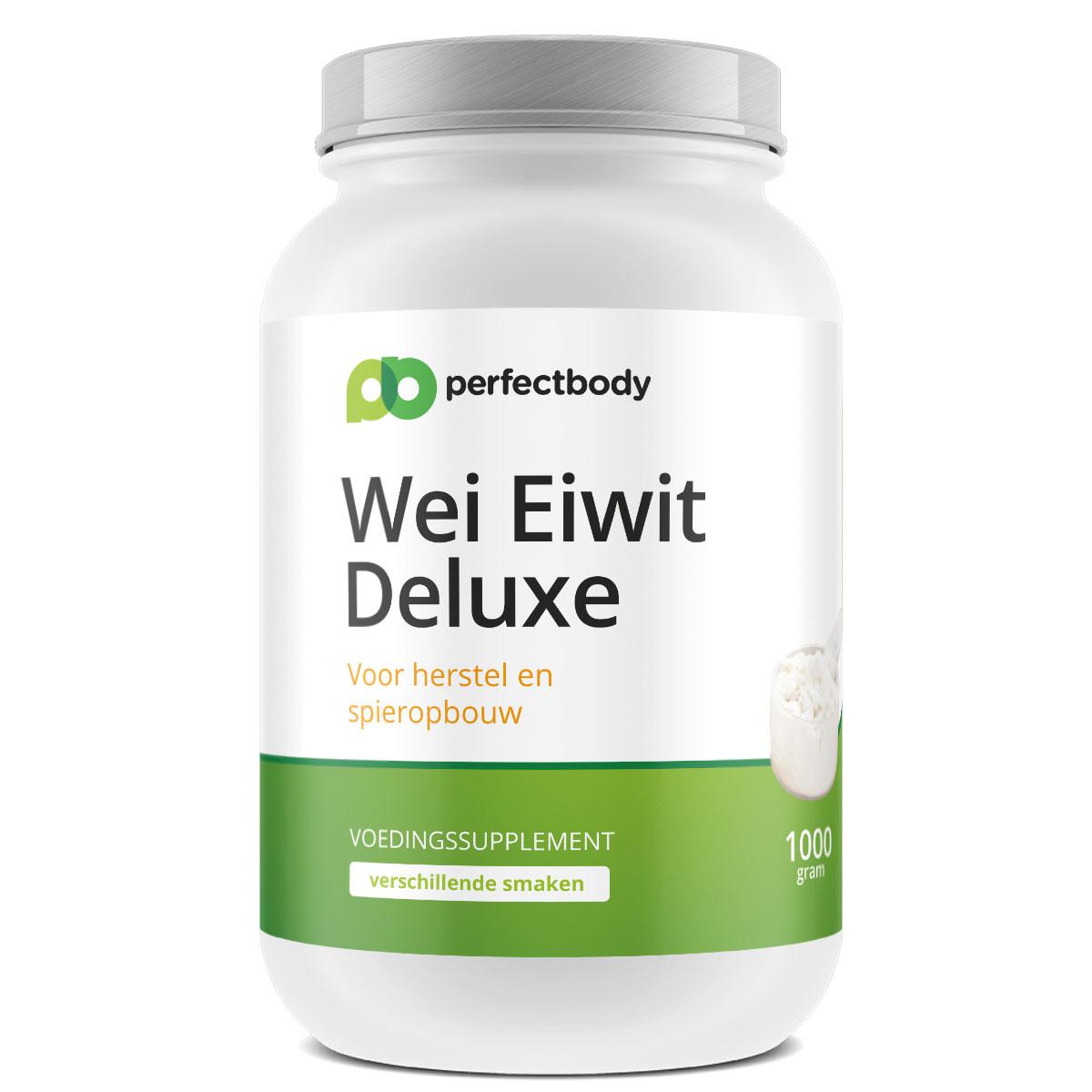 Wei Eiwit Deluxe – 1000 Gram – Aardbei