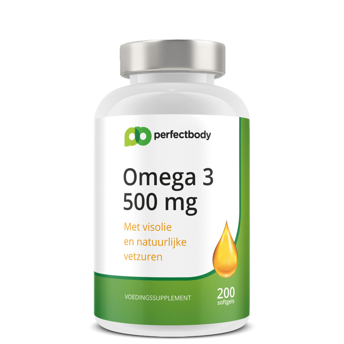 Perfectbody Omega 3 Capsules (500 Mg) - 200 Softgels